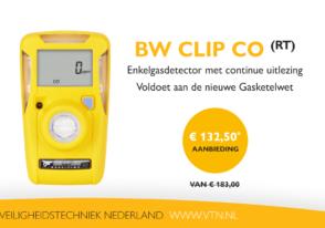 Is uw bedrijf al klaar voor de nieuwe Gasketelwet? Aanbieding: BW Clip CO € 132,50